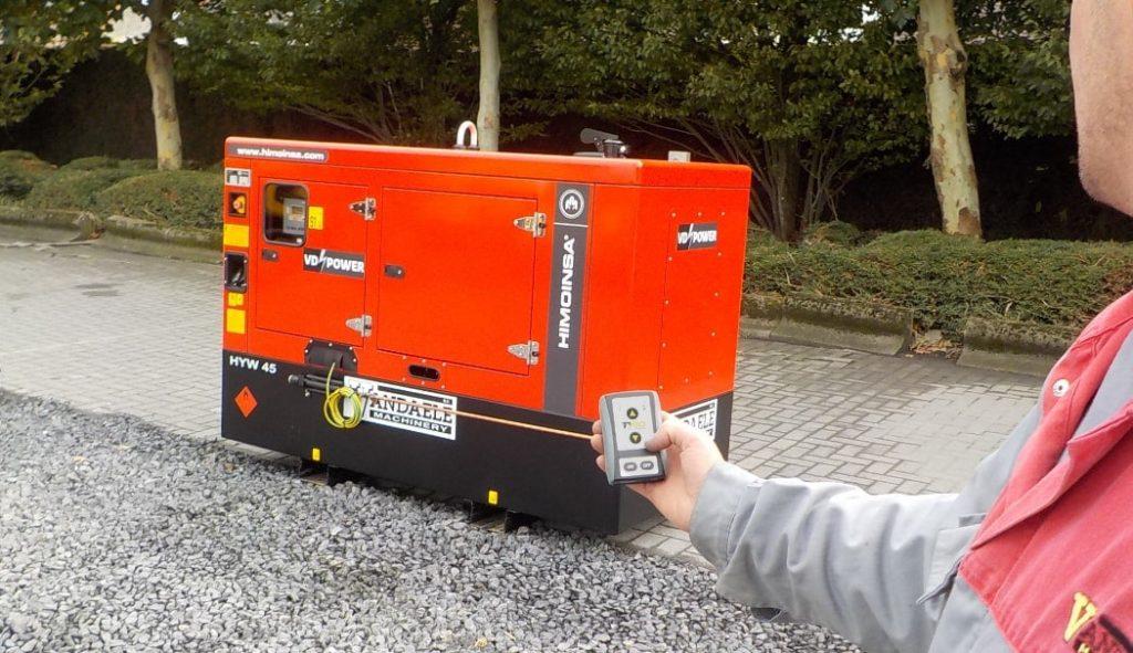 afstandsbediening met ontvanger voor stroomgenerator